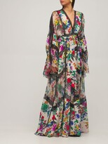 Thumbnail for your product : ZUHAIR MURAD Printed Silk Crepe De Chine Long Dress