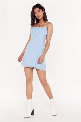Nasty Gal Womens Feeling A Lil Ditsy Floral Mini Dress - Blue - 14