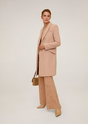 MANGO Lapels wool coat pink - S - Women
