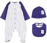 Fendi baseball stripe babygrow