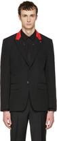 Givenchy Black Slim Contrast Lapel Blazer