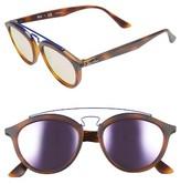 Ray-Ban Women's 53Mm Retro Sunglasses - Black/ Blue