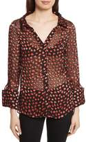 Alice + Olivia Emmerson Burnout Heart Blouse