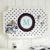 Scallop Frame Monogram Pinboard, Black Reverse Dottie Vertical