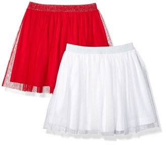 Spotted Zebra 2-pack Tutu Skirts White Sparkle/Red X-Small (4-5) Pack of 2
