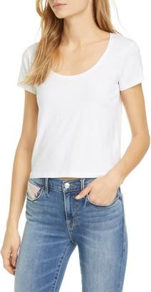 Frame Scoop Neck Organic Cotton T-Shirt