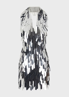 Emporio Armani Dress Embroidered With Teardrop Sequins