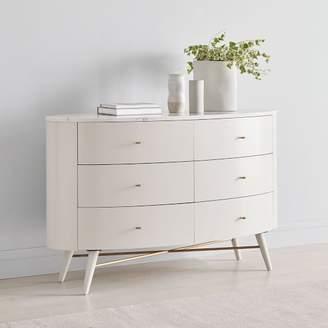 west elm Penelope 6-Drawer Dresser - Oyster w/ Marble Top