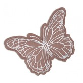 Numero 74 Butterfly cushion - white and dusky pink