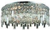 "Swarovski Bratton 6 - Light 20"" Chandelier Style Drum Flush Mount Rosdorf Park Crystal Grade: Strass"