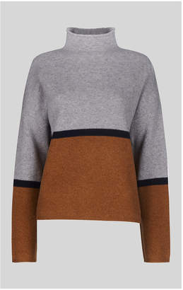 Whistles Soft Roll Neck Colour Block