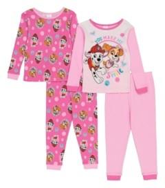 AME Paw Patrol Toddler Girls 4-Piece Pajama Set
