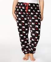 Hello Kitty Winter Dreams Plus Size Plush Printed Pajama Pants