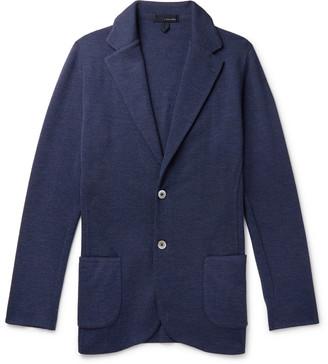 Lardini Melange Wool Cardigan - Men - Blue