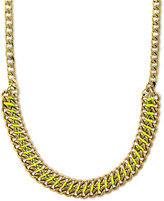 Vince Camuto Necklace, Gold-Tone Yellow Cord Wrapped Chain Necklace