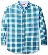 Izod Men's Big and Tall Long Sleeve Medium Plaid Hampton Poplin Shirt