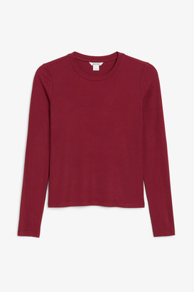 Monki Long-sleeved ribbed top