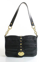 Bodhi Black Leather Single Strap Turn Lock Close Small Shoulder Handbag