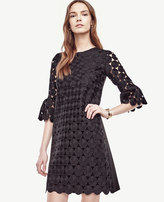 Ann Taylor Petite Circle Lace Bell Sleeve Dress
