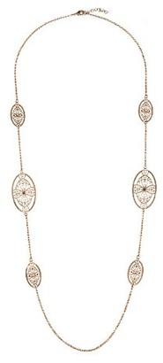 LK Designs LKN337Ygs-Women's Brass Necklace 116 cm