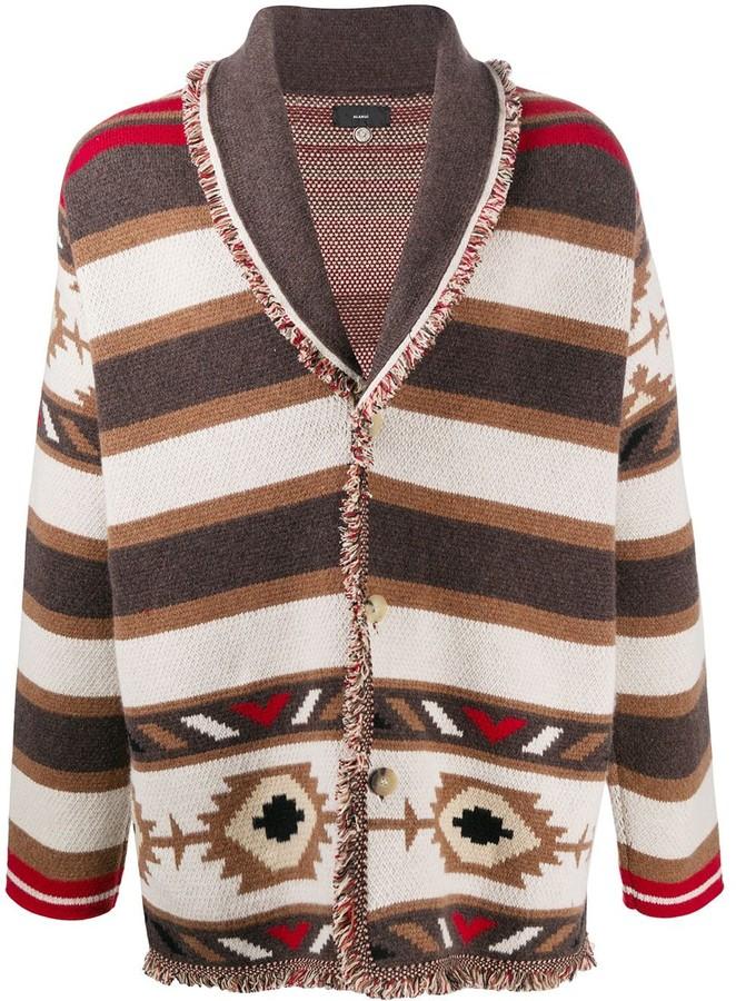 Aztec cashmere cardigan