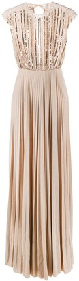 Elisabetta Franchi Beaded Long Dress