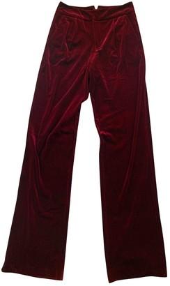Gestuz Burgundy Velvet Trousers