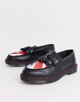 Dr. Martens x The Who adrian loafers with union target-Black