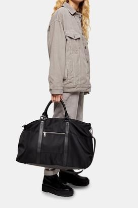 Topshop Womens Large Weekender Bag In Black - Black