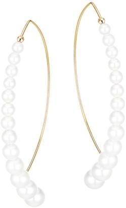 Mizuki Sea Of Beauty Large Graduated Marquise 14K Yellow Gold & 3-6.5MM Pearl Drop Earrings