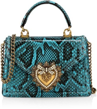 Dolce & Gabbana Devotion Python Top Handle Bag