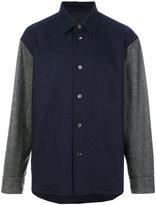 Marni contrast sleeve shirt jacket - men - Cotton/Polyamide/Spandex/Elastane/Virgin Wool - 46