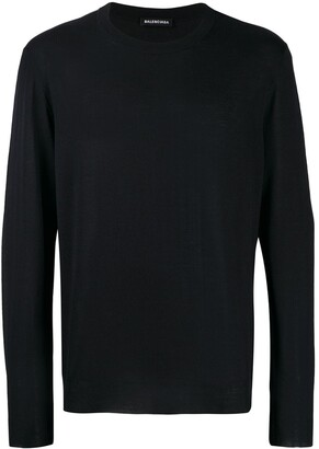 Balenciaga back signature logo knitted jumper