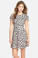 Eliza J Women's Print Ponte Fit & Flare Dress