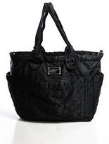 Marc by Marc Jacobs Black Monogram Nylon Tote Handbag