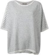 N.Peal cashmere oversized stripe T-shirt - women - Cashmere - M