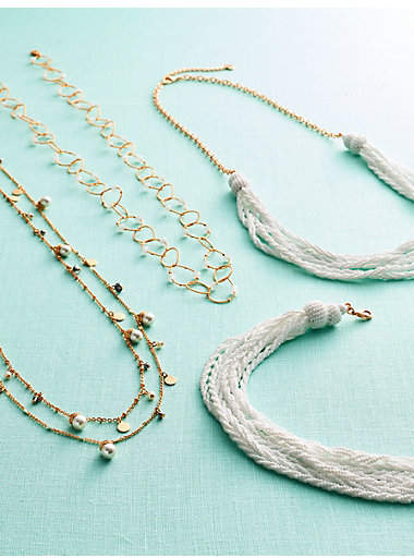 Thumbnail for your product : Talbots Delicate Mixed Beads Necklace