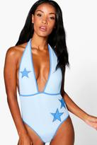 Boohoo Elise Superstar Mesh Swimsuit