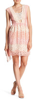 ABS by Allen Schwartz Lace Colorblock Fit & Flare Dress