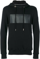 Philipp Plein logo panel hoodie - men - Cotton - M