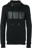Philipp Plein logo panel hoodie - men - Cotton - S