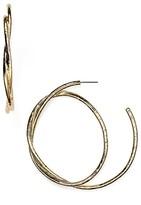 Aqua Cerise Knot Oversized Hoop Earrings