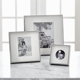 Crate & Barrel Brushed Silver Picture Frames