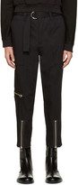 3.1 Phillip Lim Black Belted Cropped Trousers