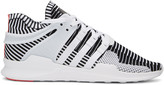 adidas White & Black Equipment Support ADV PK Sneakers