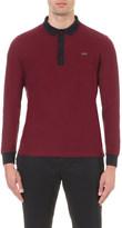 Burberry Contrasting-trim cotton polo shirt