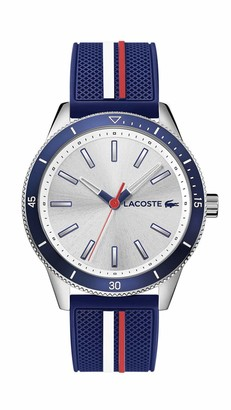 Lacoste Men's Stainless Steel Quartz Watch with Rubber Strap