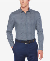 Perry Ellis Men's Dot on Check Dobby Cotton Shirt
