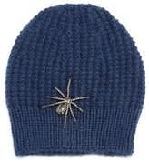 Jennifer Behr Crystal Spider Knit Beanie Hat