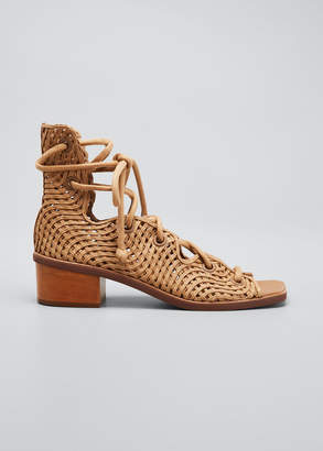 Stella McCartney Maia Woven Gladiator Sandals
